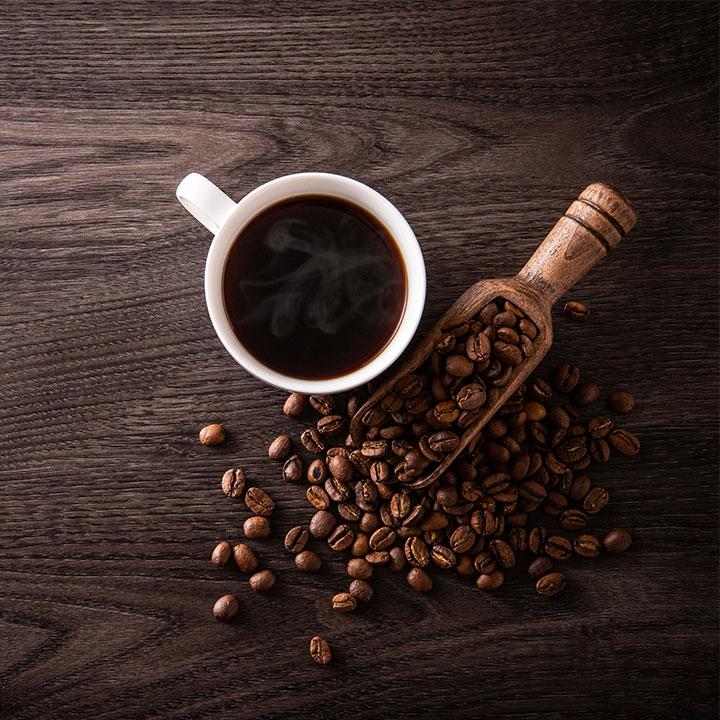 カフェイン豊富な「コーヒー」